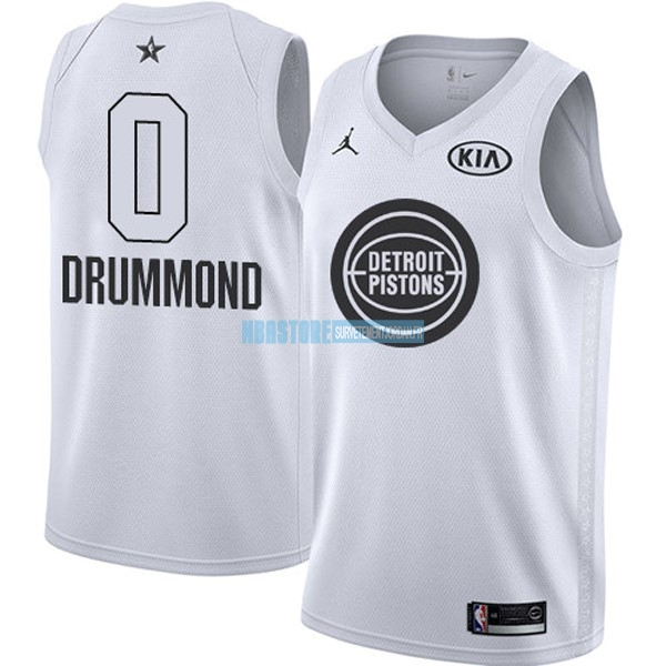Maillot NBA 2018 All Star NO.0 Andre Drummond Blanc Qualité 100%