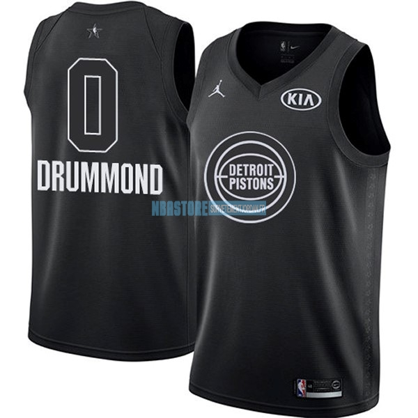 Maillot NBA 2018 All Star NO.0 Andre Drummond Noir Qualité 100%