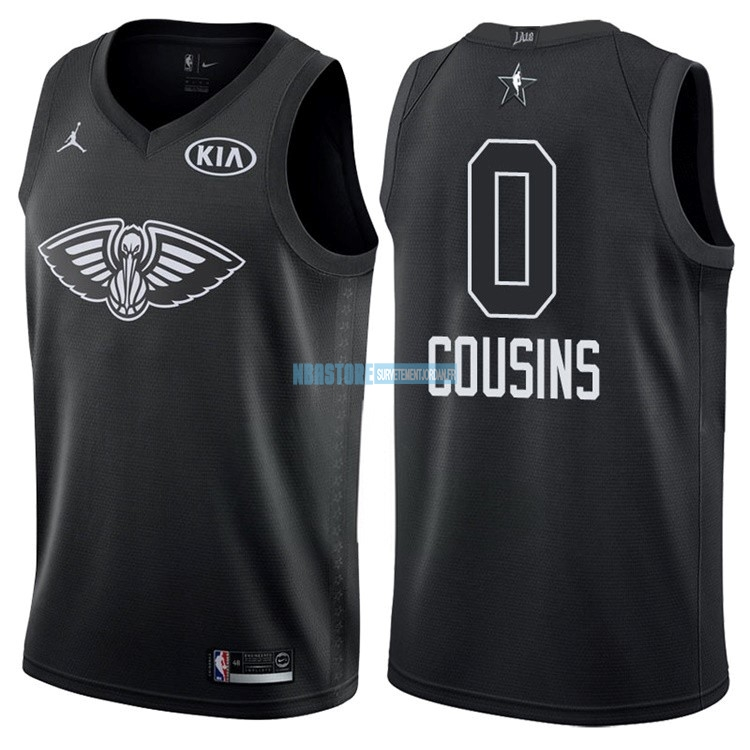 Maillot NBA 2018 All Star NO.0 DeMarcus Cousins Noir Qualité 100%