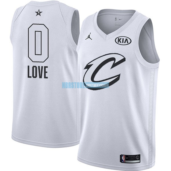 Maillot NBA 2018 All Star NO.0 Kevin Love Blanc Qualité 100%