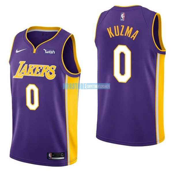 Maillot NBA Enfant Los Angeles Lakers NO.0 Kyle Kuzma Pourpre 2017-18 Qualité 100%