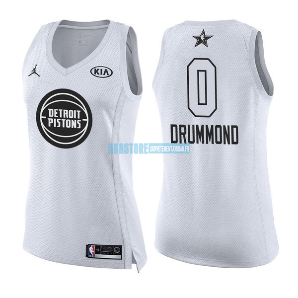 Maillot NBA Femme 2018 All Star NO.0 Andre Drummond Blanc Qualité 100%