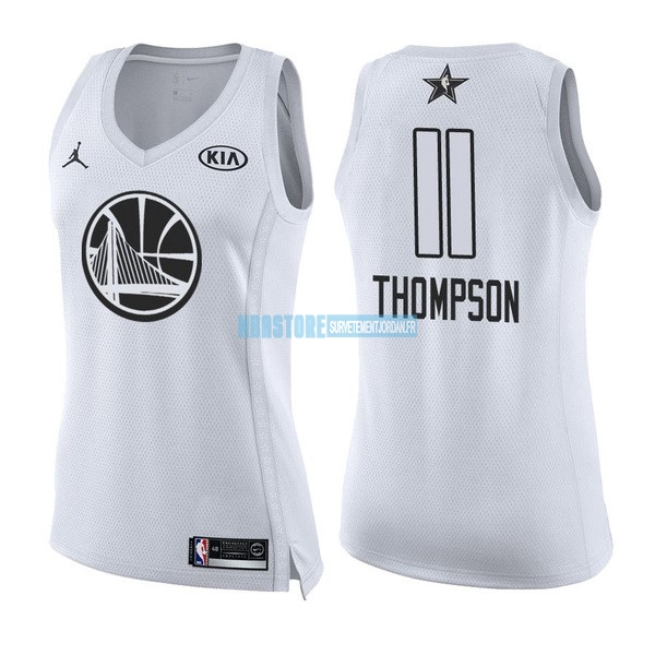Maillot NBA Femme 2018 All Star NO.11 Klay Thompson Blanc Qualité 100%