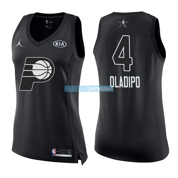 Maillot NBA Femme 2018 All Star NO.4 Victor Oladipo Noir Qualité 100%