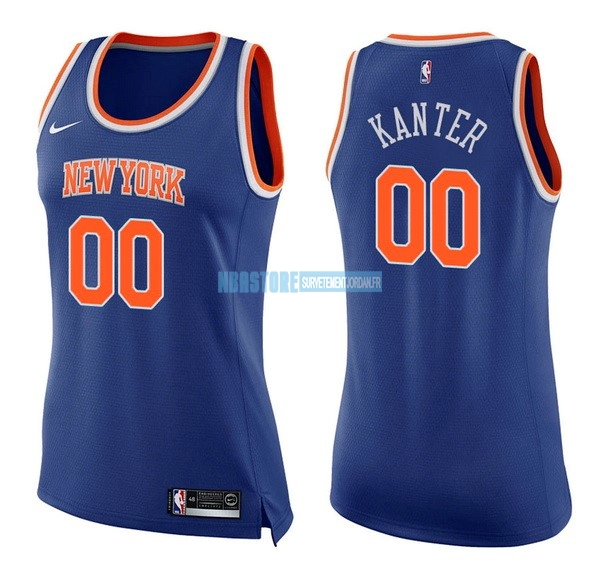 Maillot NBA Femme New York Knicks NO.0 Enes Kanter Bleu Icon Qualité 100%