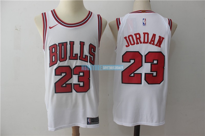 Maillot NBA Nike Chicago Bulls NO.23 Michael Jordan Blanc Association Qualité 100%