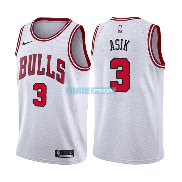 Maillot NBA Nike Chicago Bulls NO.3 Dwyane Wade Blanc Association Qualité 100%