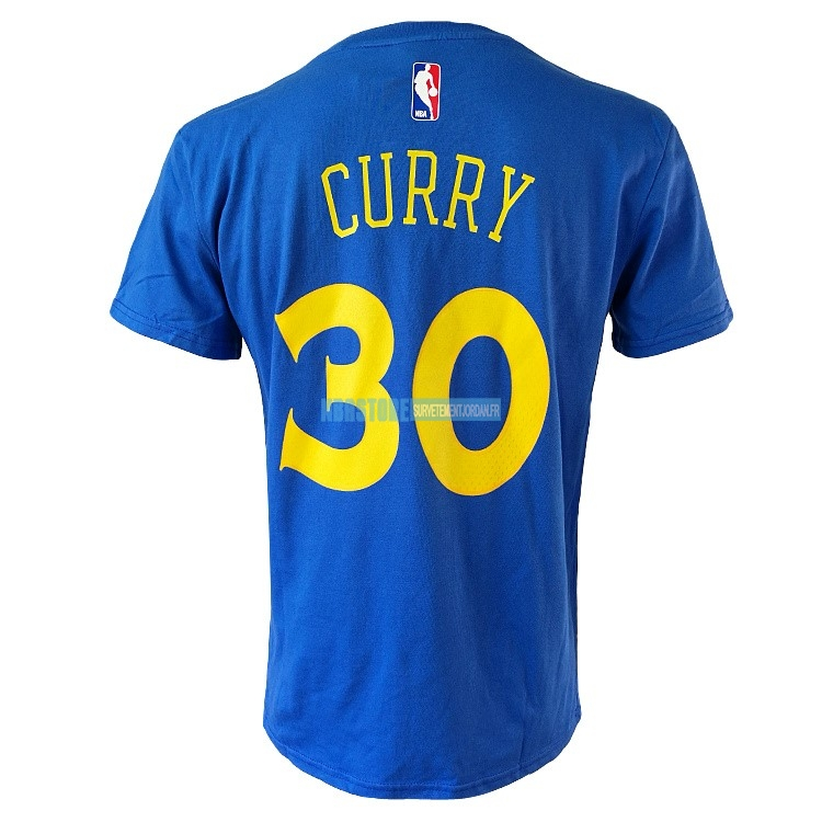 Maillot NBA Nike Golden State Warriors Manche Courte NO.30 Stephen Curry Nike Bleu Qualité 100%