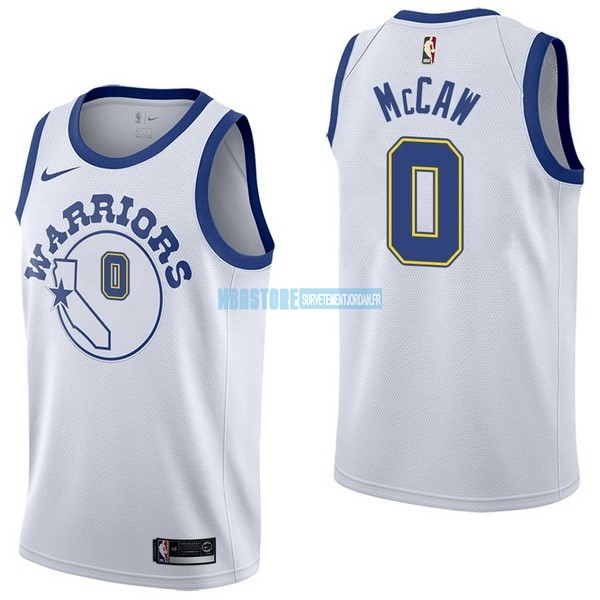 Maillot NBA Nike Golden State Warriors NO.0 Patrick McCaw Nike Retro Blanc Qualité 100%
