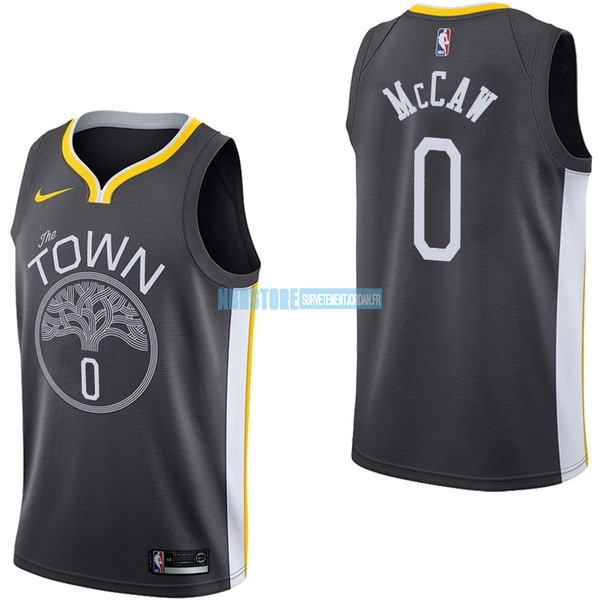 Maillot NBA Nike Golden State Warriors NO.0 Patrick McCaw Noir Statement Qualité 100%