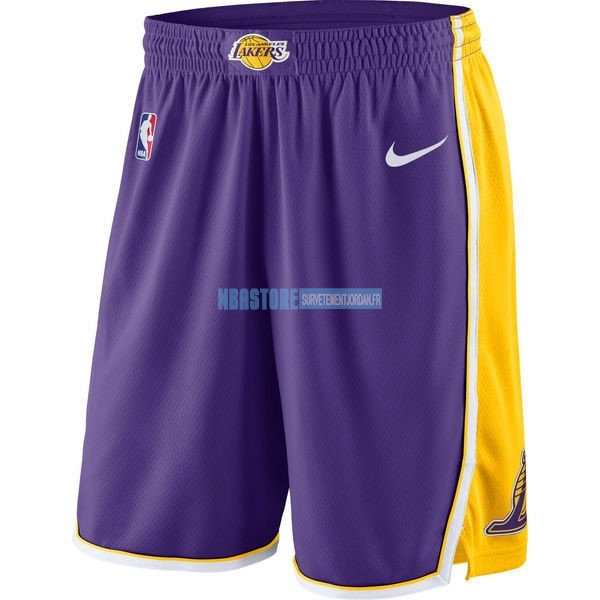 Short Basket Los Angeles Lakers Nike Pourpre Qualité 100%