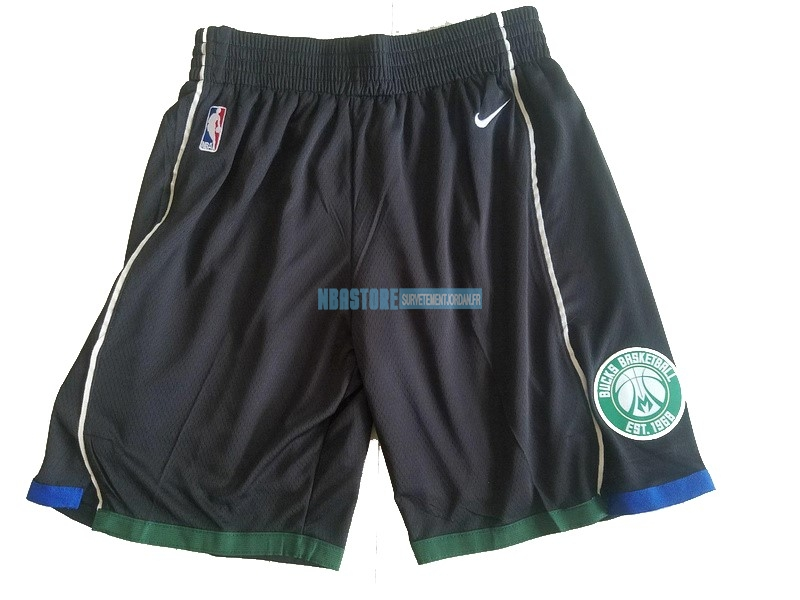 Short Basket Milwaukee Bucks Nike Noir Qualité 100%