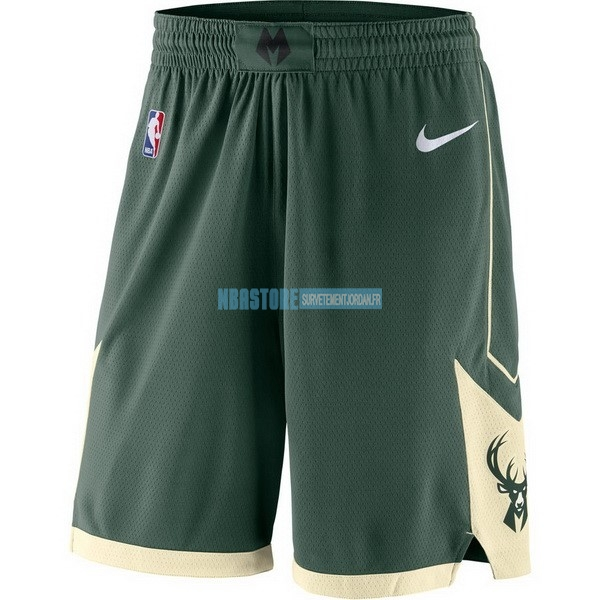 Short Basket Milwaukee Bucks Nike Vert Qualité 100%