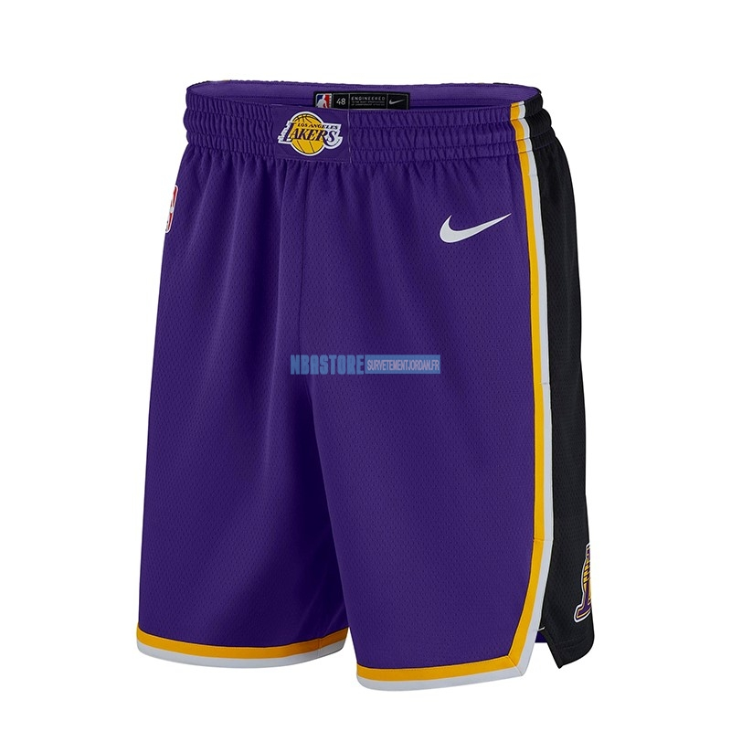 Short Basket Los Angeles Lakers Nike Pourpre 2018-19 Qualité 100%