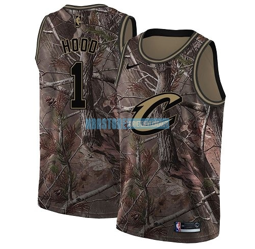 Maillot NBA Cleveland Cavaliers NO.1 Rodney Hood Camo Swingman Collection Realtree 2018 Qualité 100%