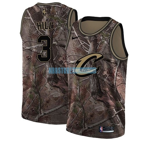 Maillot NBA Cleveland Cavaliers NO.3 George Hill Camo Swingman Collection Realtree 2018 Qualité 100%