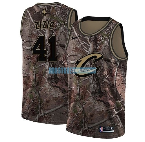 Maillot NBA Cleveland Cavaliers NO.41 Ante Zizic Camo Swingman Collection Realtree 2018 Qualité 100%