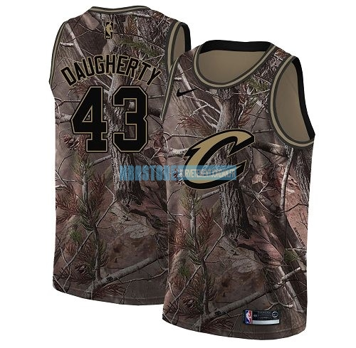 Maillot NBA Cleveland Cavaliers NO.43 Brad Daugherty Camo Swingman Collection Realtree 2018 Qualité 100%