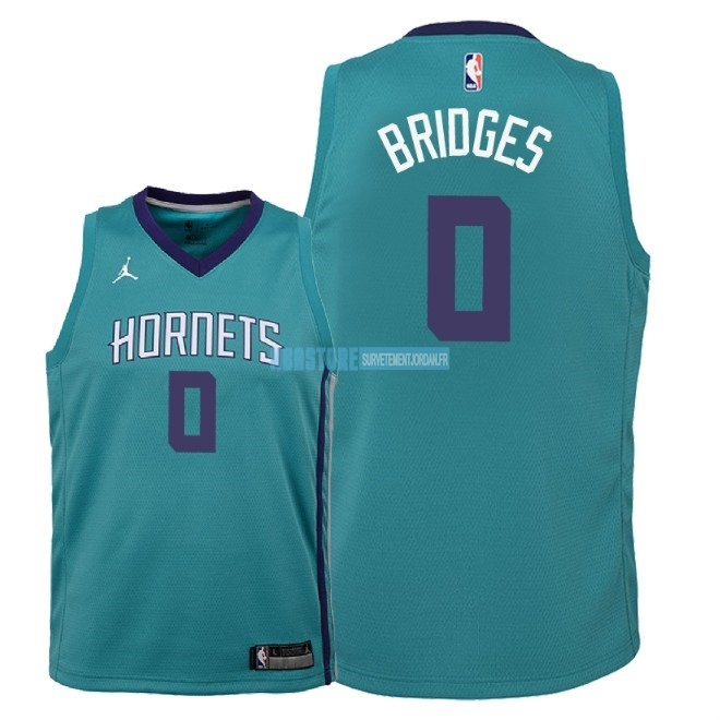 Maillot NBA Enfant Charlotte Hornets NO.0 Miles Bridges Vert Icon 2018 Qualité 100%