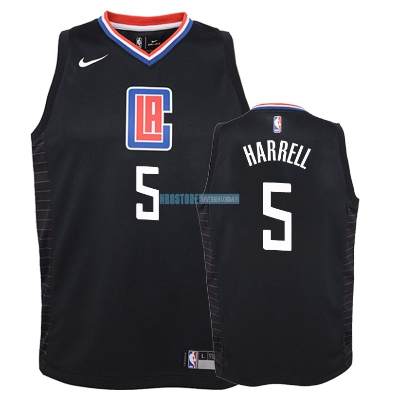 Maillot NBA Enfant Los Angeles Clippers NO.5 Montrezl Harrell Noir Statement 2018 Qualité 100%