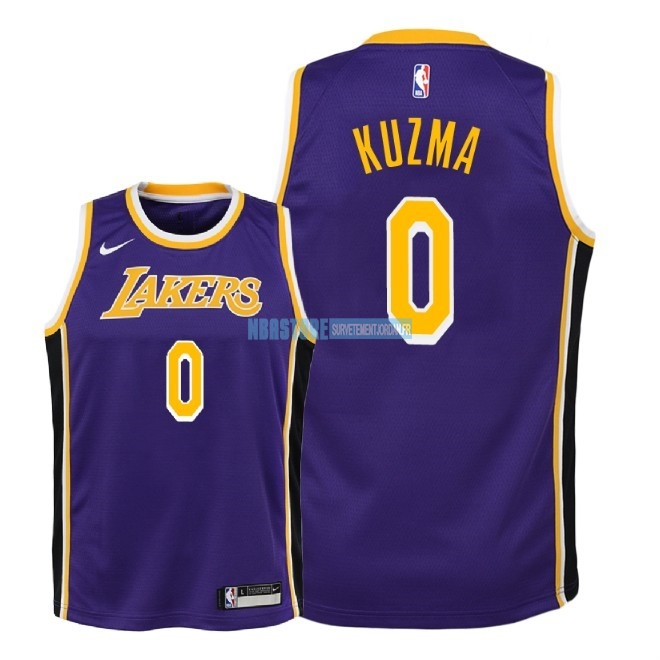 Maillot NBA Enfant Los Angeles Lakers NO.0 Kyle Kuzma Pourpre Statement 2018-19 Qualité 100%