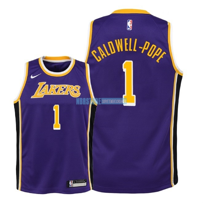 Maillot NBA Enfant Los Angeles Lakers NO.1 Kentavious Caldwell Pope Pourpre Statement 2018-19 Qualité 100%