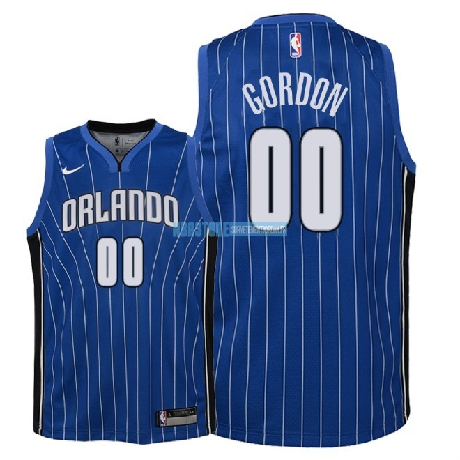 Maillot NBA Enfant Orlando Magic NO.0 Aaron Gordon Bleu Icon 2018 Qualité 100%