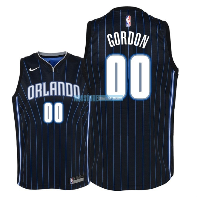Maillot NBA Enfant Orlando Magic NO.0 Aaron Gordon Noir Statement 2018 Qualité 100%