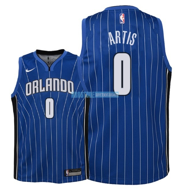Maillot NBA Enfant Orlando Magic NO.0 Jamel Artis Bleu Icon 2018 Qualité 100%