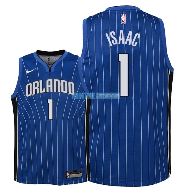Maillot NBA Enfant Orlando Magic NO.1 Jonathan Isaac Bleu Icon 2018 Qualité 100%