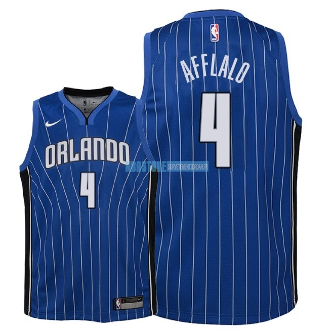 Maillot NBA Enfant Orlando Magic NO.4 Arron Afflalo Bleu Icon 2018 Qualité 100%