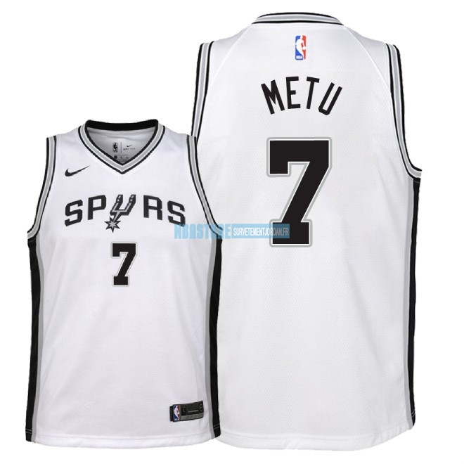Maillot NBA Enfant San Antonio Spurs NO.7 Chimezie Metu Blanc Association 2018 Qualité 100%