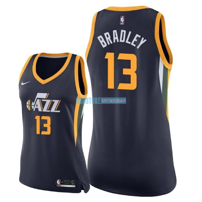 Maillot NBA Femme Utah Jazz NO.13 Tony Bradley Marine Icon 2018 Qualité 100%