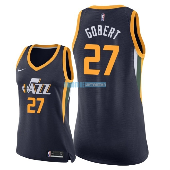 Maillot NBA Femme Utah Jazz NO.27 Rudy Gobert Marine Icon 2018 Qualité 100%