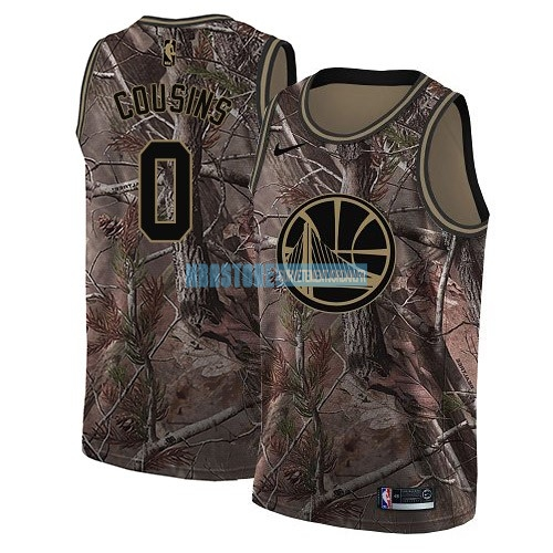 Maillot NBA Golden State Warriors NO.0 DeMarcus Cousins Camo Swingman Collection Realtree 2018 Qualité 100%
