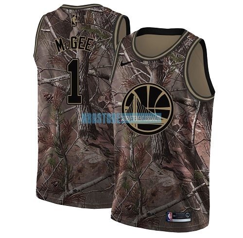 Maillot NBA Golden State Warriors NO.1 JaVale McGee Camo Swingman Collection Realtree 2018 Qualité 100%