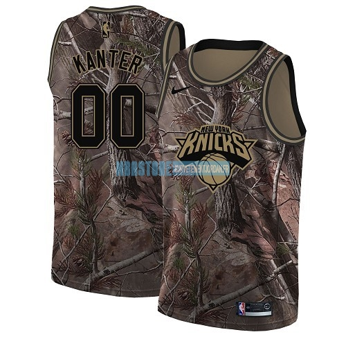 Maillot NBA New York Knicks NO.0 Enes Kanter Camo Swingman Collection Realtree 2018 Qualité 100%