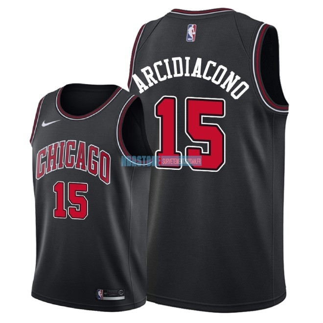 Maillot NBA Nike Chicago Bulls NO.15 Ryan Arcidiacono Noir Statement 2018 Qualité 100%