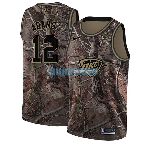 Maillot NBA Oklahoma City Thunder NO.12 Steven Adams Camo Swingman Collection Realtree 2018 Qualité 100%