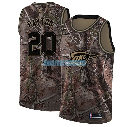 Maillot NBA Oklahoma City Thunder NO.20 Gary Payton Camo Swingman Collection Realtree 2018 Qualité 100%