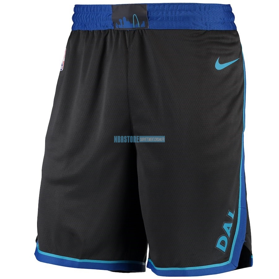 Short Basket Dallas Mavericks Nike Anthracite Ville 2018-19 Qualité 100%