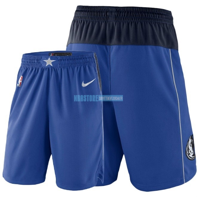 Short Basket Dallas Mavericks Nike Bleu 2018 Qualité 100%