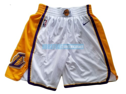 Short Basket Los Angeles Lakers Nike Blanc 2018 Qualité 100%