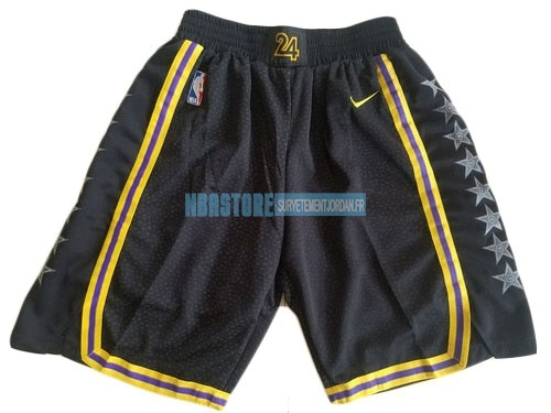 Short Basket Los Angeles Lakers Nike Noir 2018 Qualité 100%