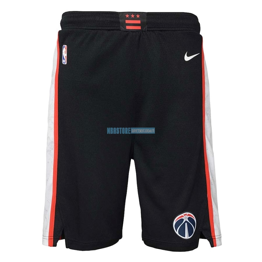 Short Basket Washington Wizards Nike Noir Ville 2018-19 Qualité 100%