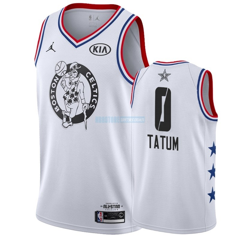 Maillot NBA 2019 All Star NO.0 Jayson Tatum Blanc Qualité 100%