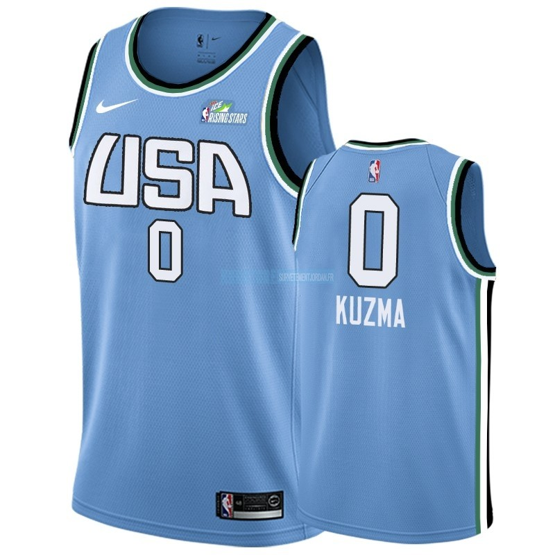 Maillot NBA 2019 Rising Star NO.0 Kyle Kuzma Bleu Qualité 100%