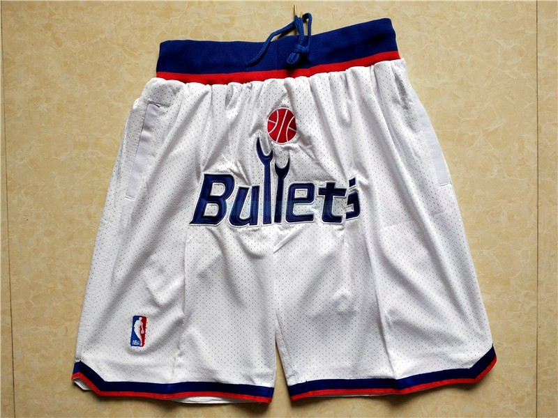 Short Basket Washington Wizards Blanc