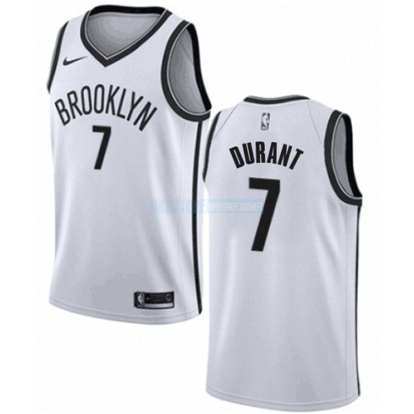 Maillot NBA Enfant Brooklyn Nets NO.7 Kevin Durant Blanc Association 2019-20