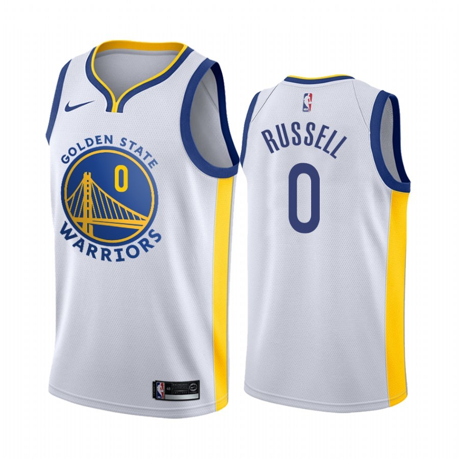 Maillot NBA Nike Golden State Warriors NO.0 D'Angelo Russell Blanc Association